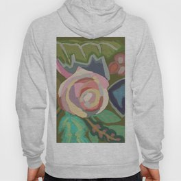 Organic abstract floral Hoody