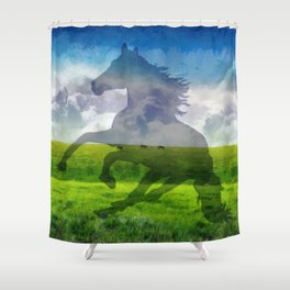 Horse fantasy Shower Curtain