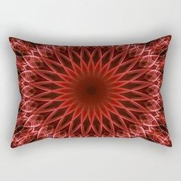 Detailed mandala in dark and light red tones Rectangular Pillow