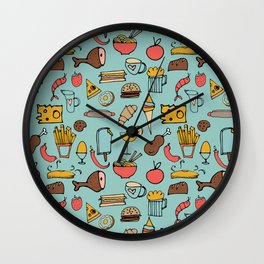 Food Frenzy blue #homedecor Wall Clock