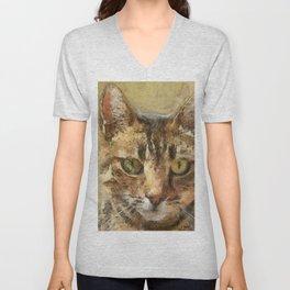 Tabby Cat Unisex V-Neck