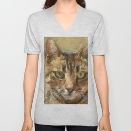 Tabby Cat Unisex V-Neck