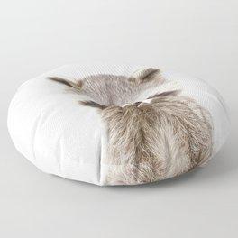 Baby Raccoon Portrait Floor Pillow