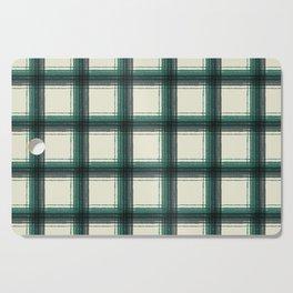 plaid-pine green Cutting Board