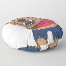 Sassy Wolf Floor Pillow