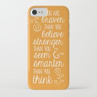 winnie the pooh iPhone & iPod Cases featuring Winnie the Pooh by Nikita Gill