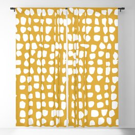 Dots / Mustard Blackout Curtain