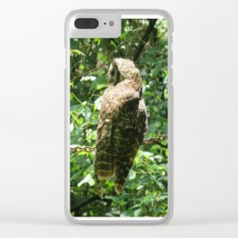 Owl Unchained Clear iPhone Case