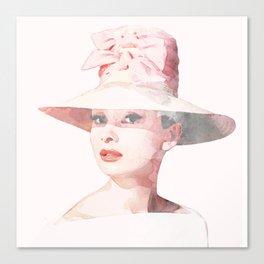 Audrey Hepburn - Watercolor Canvas Print