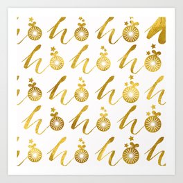 Gold Christmas 07 Art Print