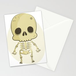 Cute Skull Halloween Character Stationery Cards