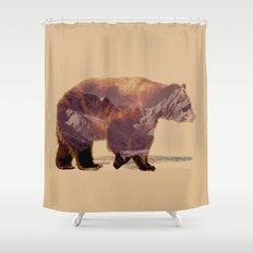 Glacier Grizzly Shower Curtain