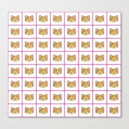 Cutie Cat Face Pattern Canvas Print