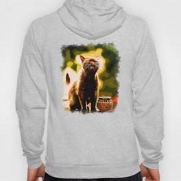 british shorthair cat ready to attack vector art Hoody