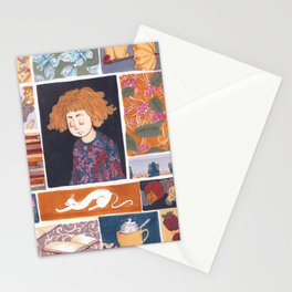 Childhood Collage Stationery Cards