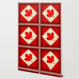 Canadian flag, vintage treated edition in square format to suit pillows, duvets, shower.....etc Wallpaper