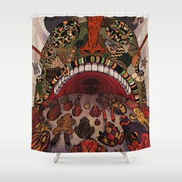 swallow frogs Shower Curtain
