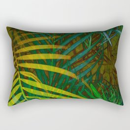 TROPICAL GREENERY LEAVES no6 Rectangular Pillow