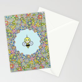 FLOWER POWER BEE Stationery Cards