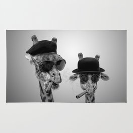Giraffe gangsters Rug