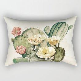 Vintage Cactus Rectangular Pillow