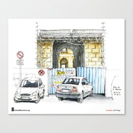 "Luis Ruiz, ""Málaga, Bad Parking"" Canvas Print"