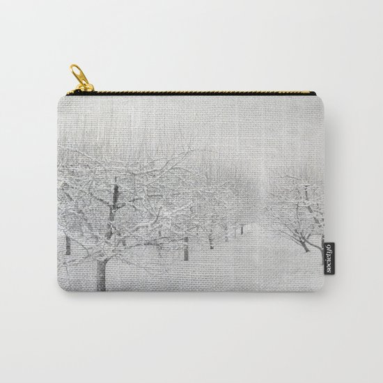 Winter Apple Orchard Carry-All Pouch