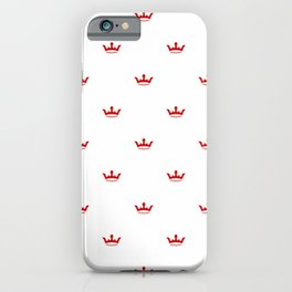 Red Crown pattern iPhone Case