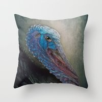 turkey Throw Pillows featuring Turkey by Pauline Fowler ( Polly470 )