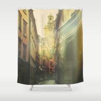 stockholm Shower Curtains featuring Stockholm by Viviana Gonzalez