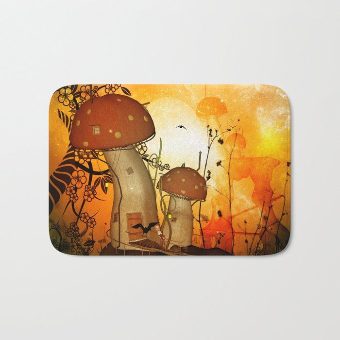 The fairy house in the night Bath Mat