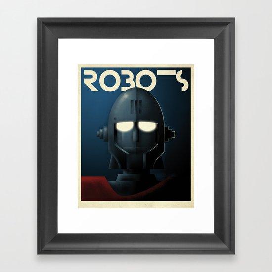 Robots - Crag Framed Art Print