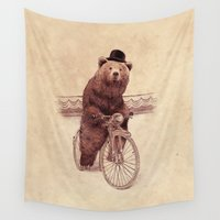 cycling Wall Tapestries featuring Barnabus by Eric Fan