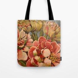 Peonies in Pink Tote Bag