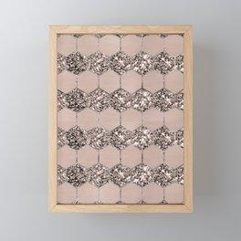 Blush Hexagon Glitter Glam #2 #geometric #decor #art #society6 Framed Mini Art Print