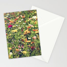 Happy summer meadow vintage style Stationery Cards