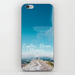 EXPLORE / DREAM / DISCOVER iPhone Skin