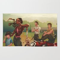 walking dead Area & Throw Rugs featuring The Walking Dead by Brian Hollins art
