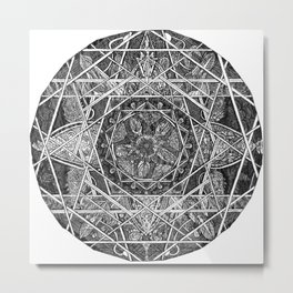 Milkweed Mandala Metal Print