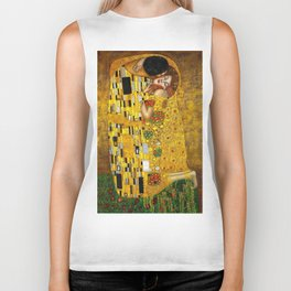 The Kiss Painting Gustav Klimt Biker Tank