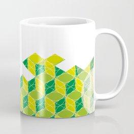 Green Isometric Pattern Coffee Mug