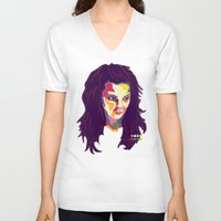 bjork V-neck T-shirts featuring Bjork by mr. michael temple