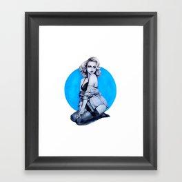 Blue Dot Girl Framed Art Print