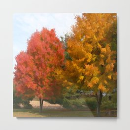 Welcome Fall Metal Print