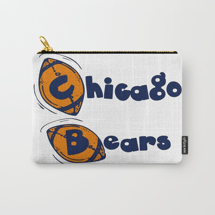 Da Bears Font Typography Carry-All Pouch