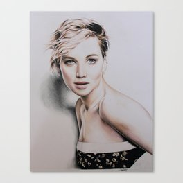 Jennifer Lawrence Drawing Canvas Print