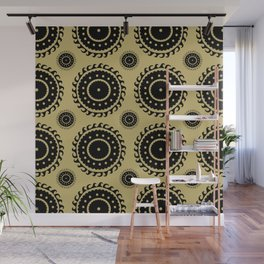 Black and Olive print Wall Mural