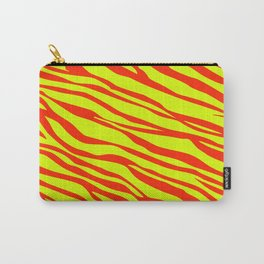 Cherry Red And Sunshine Yellow Zebra Stripes Carry-All Pouch