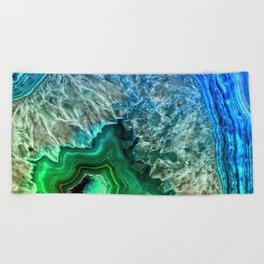 Turquoise Green Agate Mineral Gemstone Beach Towel