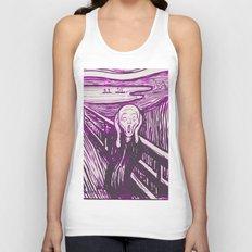 The Scream's Haze (purple) Unisex Tank Top